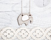 Elephant  Necklace, Gray Pendant, Many color variations