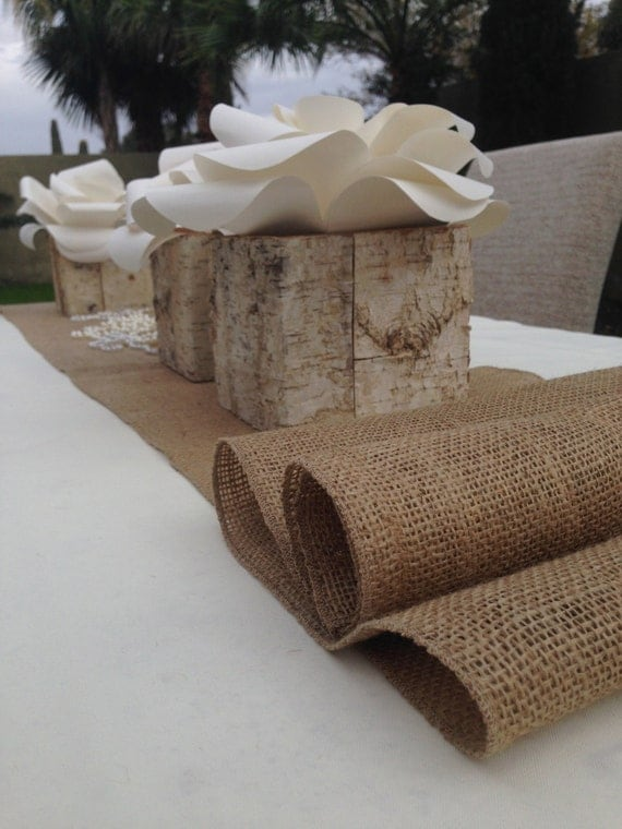 items similar to 12 foot burlap table runner 14 39 39 wide x