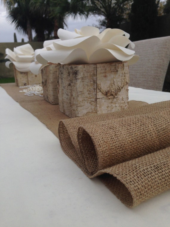 Items similar to 12 foot burlap table runner 14 39 39 wide x for 12 ft table runner