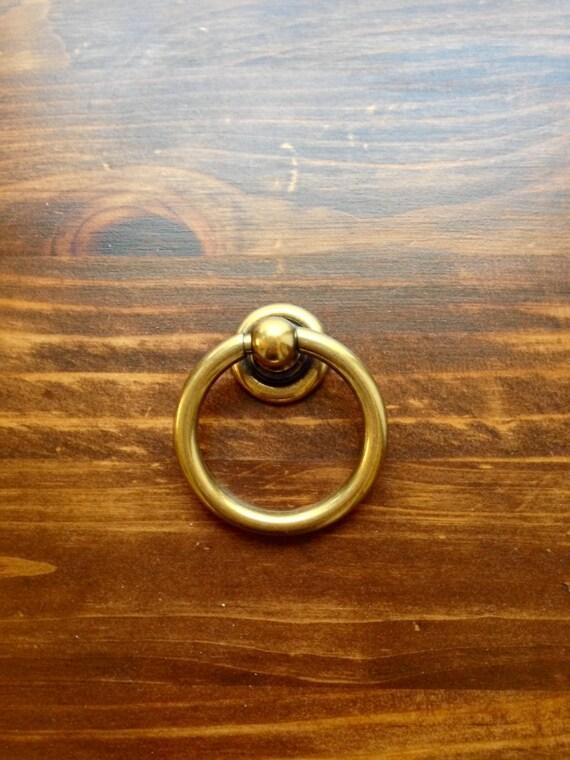Plain Brass Ring Pulls Hardware Cabinet Pull Drawer Pull