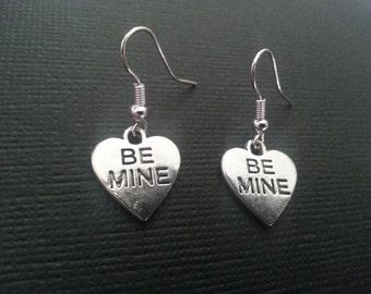 Silver Sweetheart Be Mine Earrings