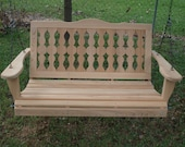 4 Foot Victorian Cypress Porch Swing