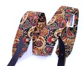 Gypsy Paisley Banjo Strap with Adjustable Leather Ends