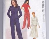 Sale McCalls Pattern 8293 Top Pants Skirt Size 18, 20, 22