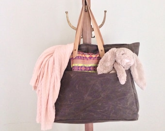 Waxed Canvas Diaper Bag