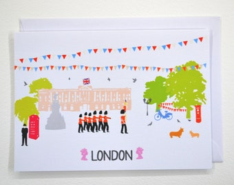 London Buckingham Palace - Greeting Card (Free UK Delivery)