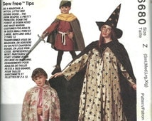McCall's 6680 Adult Halloween Costume Pattern, Capes and Tunics, S-M-L-Xl