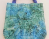 Tie Dyed Under the Sea Tote - Hippie Bag - Cotton tote