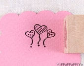 40% OFF SALE heart 01 Rubber Stamp (20mm)