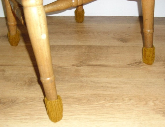 Knitted Floor Protectors Set Of 4 Chair Socks Chair Leg By