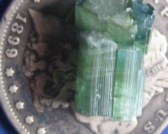 Green Tourmaline crystal  - Jewelry - free shipping usa