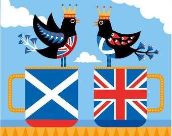 Scottish British feathered friends