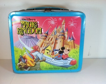 Vintage Walt Disney's Magic Kingdom Metal Lunchbox - 1979.