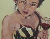 Angela Portrait, Original Oil Painting