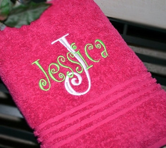 Monogram Beach Towels Monogram Bath Towels By KNKMonograms