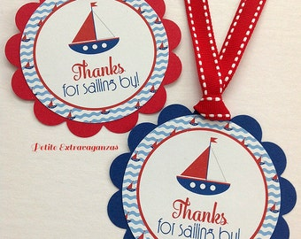 Nautical Favor Tags - Set of 12