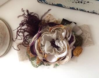 Baby Girl Headband- Mustard Pie headband- Persnickety Headband- Baby Headband- Flower Girl Headband-Rustic Wedding