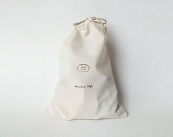 Wooden toy storage bag - 1+1