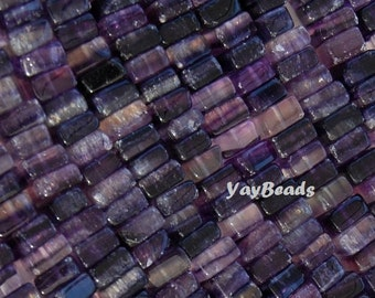 Amethyst Bead Square Heishi Rondelle Natural Purple Crystal Variegated 8x8x4-5mm Qty 30