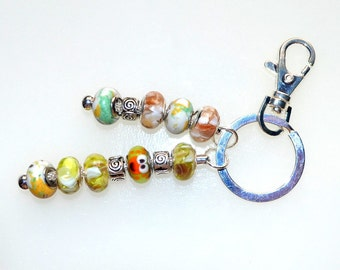 Nemo Key Ring With Handmade Lampwork Beads