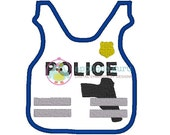 Police Kevlar Vest  --  Machine Embroidery Design Applique