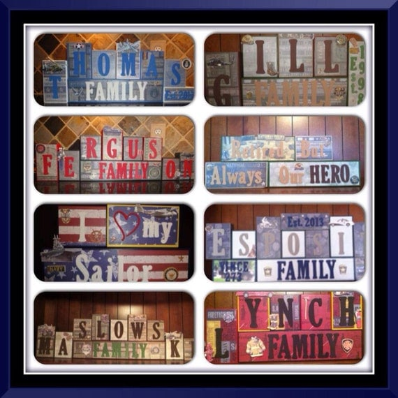 Police Officer Firefighter Fire Theme Family Name Home Decor