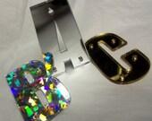 Snapback letters,laser cut.3D letters,Impact,snapback hats,mirror letters,laser cut letters,holographic,laser cut