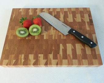 Butcher Block / Chopping Block / Cutting Board, Cherry End Grain