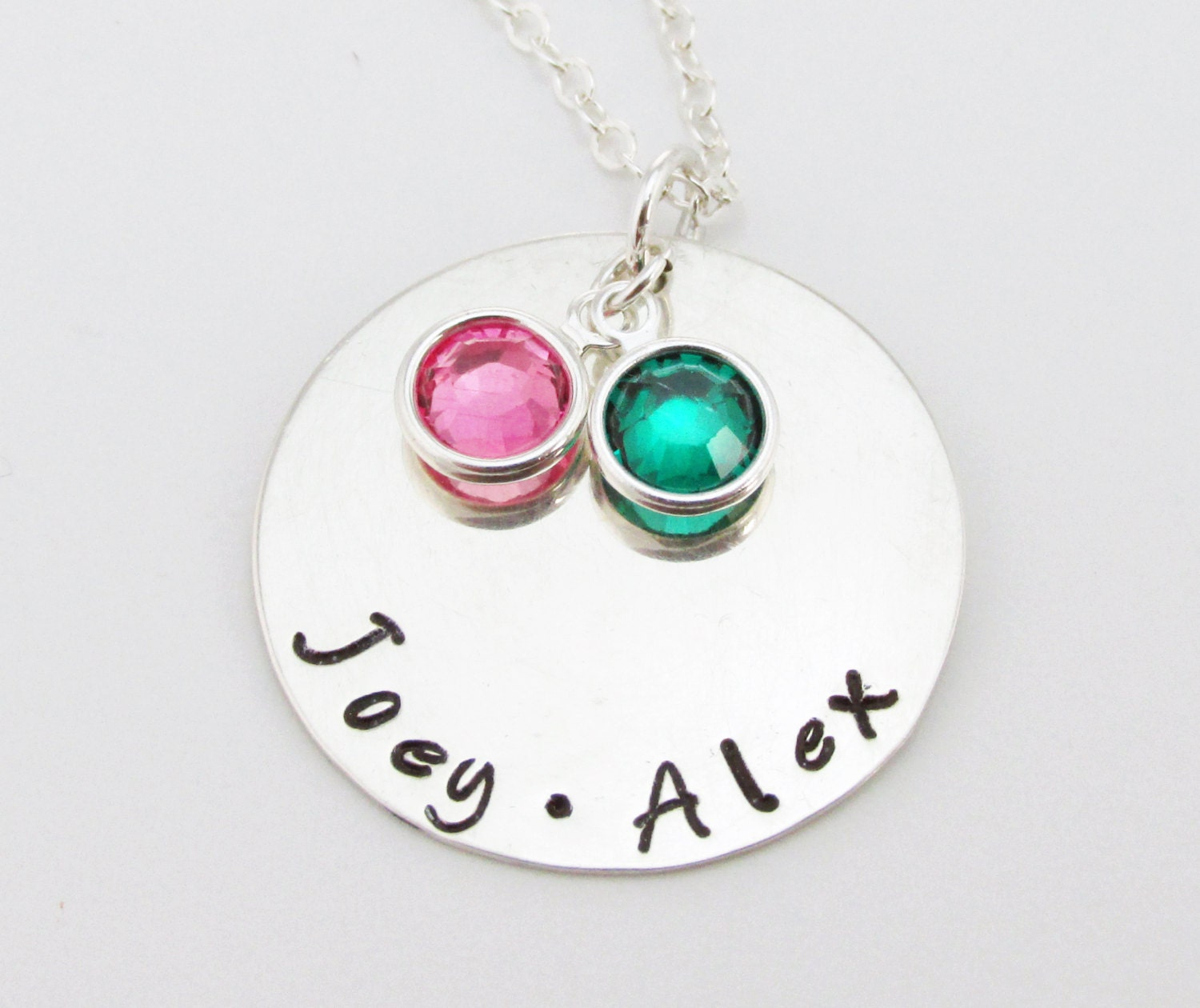 personalized sterling silver mothers necklace swarovski