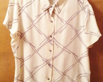City Silk cream blouse.