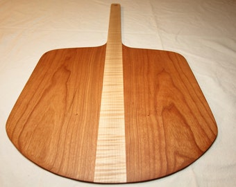 Pizza Paddle & Baker's Peel in Cherry and Tiger Maple - Funky Gift for the Gourmet and Chef