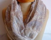 SALE , Beige Infinity Scarf, Beige Long Scarf, spring Scarf, beige Color, summer scarf, very soft scarf, summer fashion,