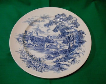 "Two (2), 10"" Dinner Plates, from Wedgwood, in the Countryside Blue Pattern."