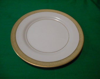 """One 12), 7 3/4"""" Porcelain Salad Plate, from Mikasa, in the Bristol 8303 Pattern."""