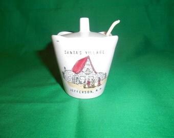 One (1), Souvenir Mustard Pot , from Santa's Village, Jefferson, NH