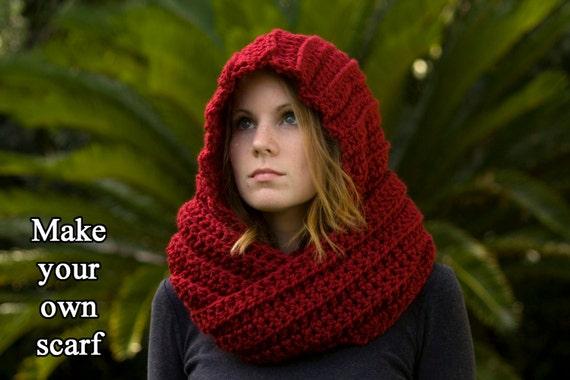 nordic hooded scarf crochet pattern pdf