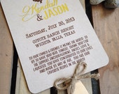 RUSTIC Wedding Program Fan - DIGITAL - Outdoor Ceremony - Rustic Wood Collection - Custom - Jute - Modern - Eco - Sample - DIY Printable