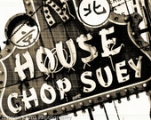 "Vintage Sign Photography Print ""House Chop Suey"" photo chinese food"