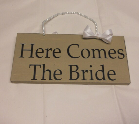 Double Sided Mini Here Comes The Bride Sign
