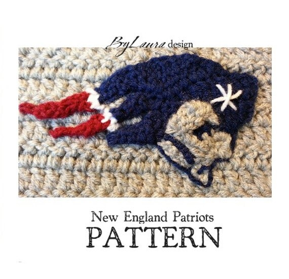 Free Crochet Pattern For New England Patriots Afghan : PATTERNNew England Patriots Emblem by HelmetHed on Etsy