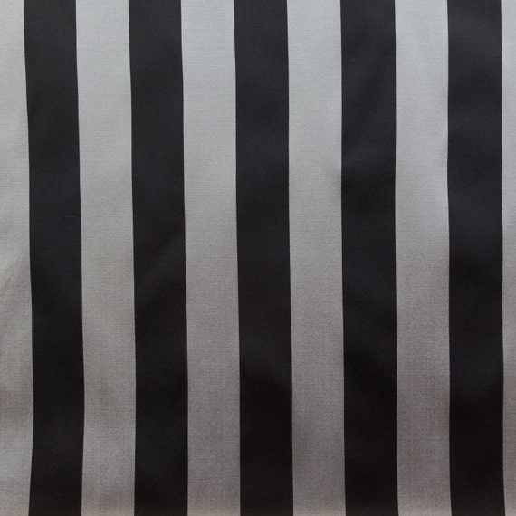 Taffeta Stripes Gray & Black 58 Inch Wide Fabric by the Yard, 1 yard