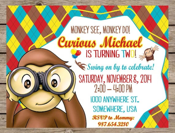 Monkey Boy Invitations is beautiful invitation design