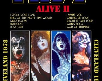 KISS ALIVE II 1978 Cleveland Reproduction Counter Top Stand-Up Display - Gift Rock Band Collectibles Collection Collector Memorabilia Retro