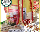 Chi Omega  Supply Sack:  Everything you need to create heartfelt Sister gifts Licensed