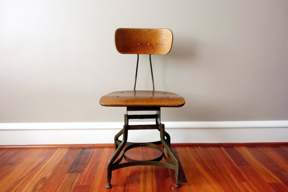 Vintage Adjustable Uhl Toledo Chair Wood And Steel