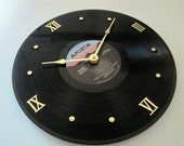 Milli Vanilli - Vinyl LP record album clock. - Girl You Know It's True - Upcycled