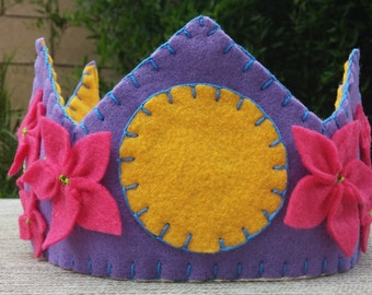 Girls Felt Birthday Crown