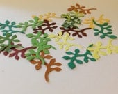 30 paper die cut branches in your choosen colors