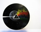 Reserved Listing for Nicole  Dark Side of the Moon painting on vinyl record