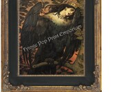 Raven Woman in Agony Art Print 8 x 10 - Horror Art - Goth - Dark Fine Art